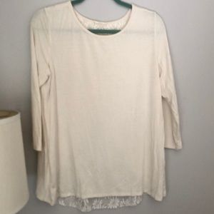 Cream tee with amazing back details
